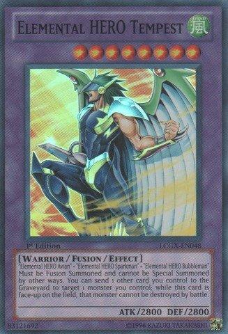 Yu-Gi-Oh! - Elemental HERO Tempest (LCGX-EN048) - Legendary Collection 2 - 1st Edition - Super Rare