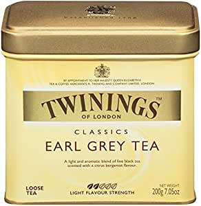 Twinings Earl Grey Tea, Loose Tea, 7.05-Ounce  Tins (Pack of 6)