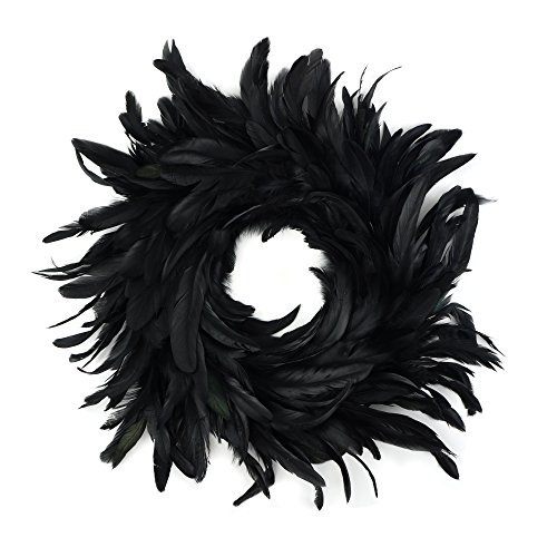 Natural Schlappen Feather Holiday Wreath - 18