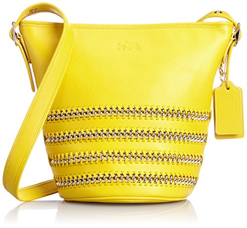 Coach Mini Duffle Pop Lacing Whiplash Leather Shoulder Hobo Bag 35373 Yellow by Coach