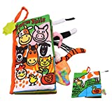 SUPOW Soft Cloth Books -Funny Animal Tails Cloth book Baby Toy Cloth Development Books for 3~24 Month Baby (Farm Tails)
