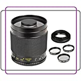 500mm f/8.0 Telephoto Mirror Lens For Nikon 3000, D3100, D3200, D3300, D5000, D5100, D5200, D5300, D7000, D7100, DF, D3, D3S, D3X, D4, D40, D40x, D50, D60, D70, D70s, D80, D90, D100, D200, D300, D600, D610, D700, D750, D800, D800E, D810, Digital SLR Cameras (Mirror)