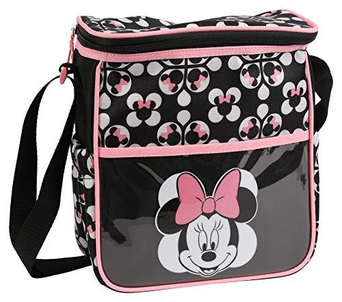 (Disney Minnie Mouse Mini Diaper Bag, Geometric Minnie Print, Grey)