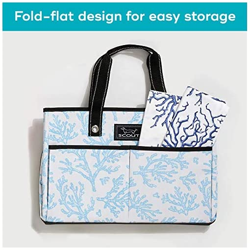 Perfect Utility Tote Bag with Pockets for Teachers and Nurses Large Tote Bag for Women with 4 Exterior Pockets and Interior Zippered Compartment SCOUT BJ Bag Multiple Patterns Available