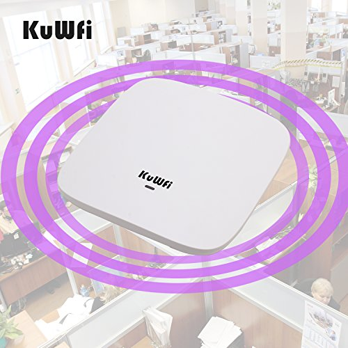 KuWFi Ceiling Mount Wireless Access Point, Dual Band Wireless Wi-Fi AP Router with 24V POE Long Range Wall Mount Ceiling Router Supply a Stable Wireless Coverage by KuWFi (Image #6)