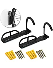 SortWise 2 Pack Bicycle Bike Adjustable Wall Mounted Hook Rack Holder Hanger Stand Cycle Storage System for Garage/Shed