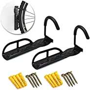 2 Pack Bicycle Bike Adjustable Wall Mounted Hook Rack Holder Hanger Stand Cycle Storage System for Garage/Shed
