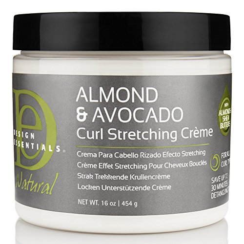Design Essentials Natural Curl Stretching Crème to Elongate, Define, Smooth Medium to Course Natural Hair Textures-Almond & Avocado Collection, 16oz. (Define Creme Curl)