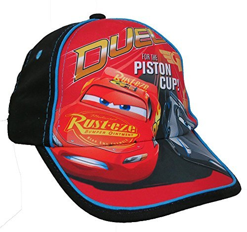 Disney Pixar Boys Lightning McQueen Cars Dual For the Piston Cup Baseball Cap Hat