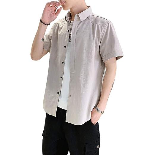 Camisa de vestir casual de los hombres Camisa de manga corta ...