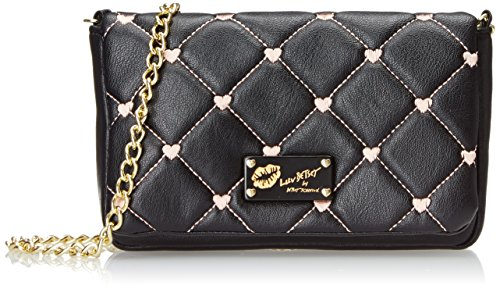 LUV BETSEY by Betsey Johnson Touch My Heart Cross Body Bag, Black, One Size