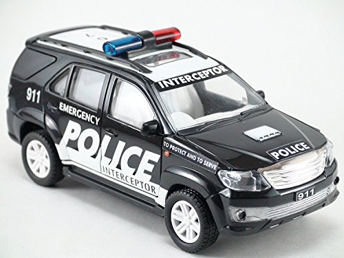 Toyota Suv Off Road Fortuner 911 Police Scale Model Car Import It All