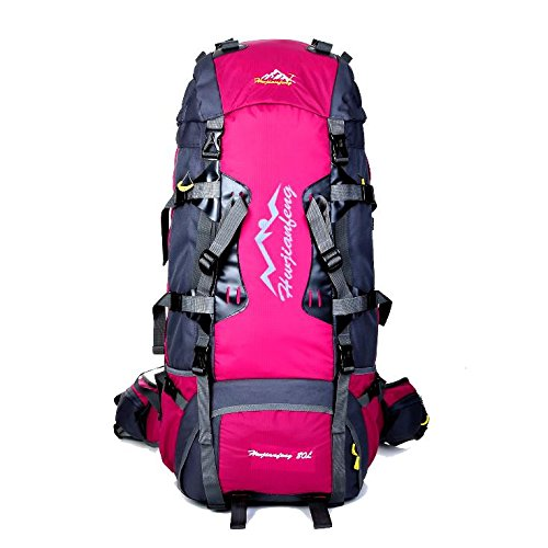 YYY-Un nuevo día deporte al aire libre bandolera hombre nylon viaje bolsas mochilas multifuncional mujer mochila nueva capacidad 80L , green 1