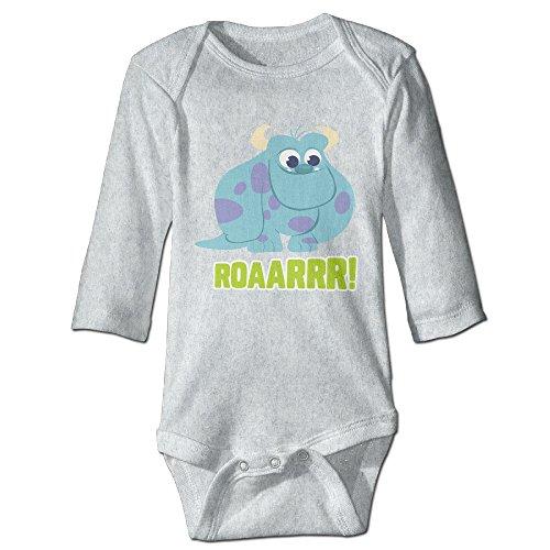 Monsters Inc Pretty Roaarrr Cute Babies, Children Long Sleeve Playsuit (Googly Bear Monsters Inc)