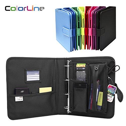 0ebee495c Colorline 43311 - Pack Carpeta de 4 Anillas y Porta Todo Integrado, Super  Carpeta & Go, Todo en Uno para Material Escolar. Color Negro, Medidas 34 x  29 x 6 ...
