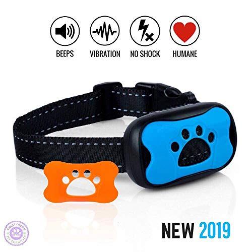 Violet Crown Pet Essentials Sonic Vibrating Humane No Harm No-Bark Dog Collar – Dog Training