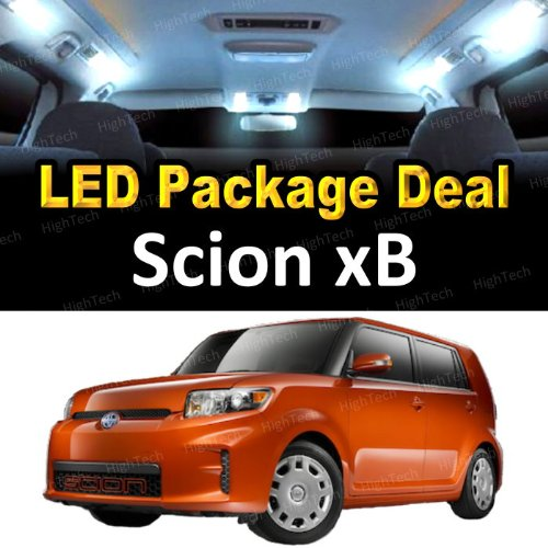 HighTechAutoAccessory - LED Interior Package Deal for 2012 Scion xB (6 Pieces), WHITE