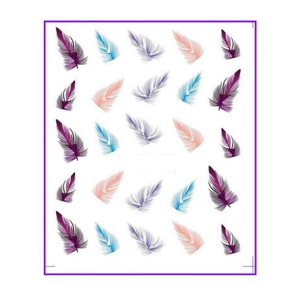 manicura plumas adhesivas