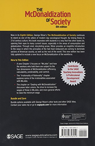 the mcdonaldization of society Chpater 1-5 sociology quizzes  the sociological imagination is the ability to view one's own society  ritzer's concept the mcdonaldization of society refers to.