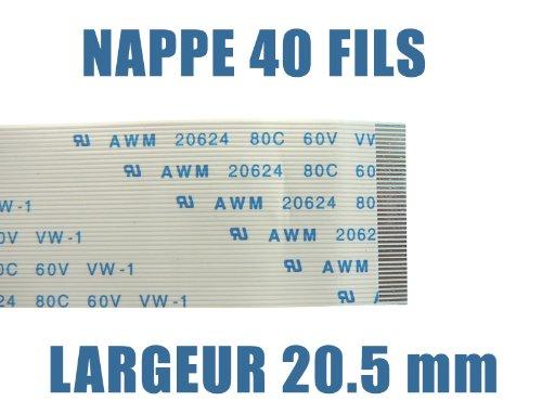 LARGEUR 20.5mm //// ZIF WIRE TO BOARD LONGUEUR 250mm Nappe flexible plate ////// 40 FILS FPC RIBBON FLEX CABLE KALEA-INFORMATIQUE /© AWM