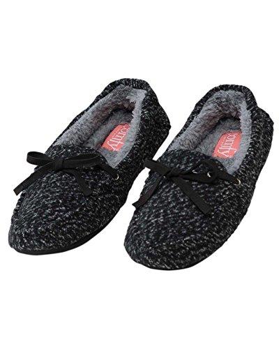 Elan Alyssa Pantoffels Zwart