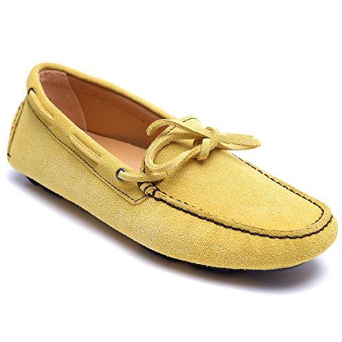 zanetti - Mocasines de Piel para mujer Amarillo amarillo
