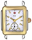 MICHELE Women's MW06V00C9046 Deco 16 Stainless Steel and Gold-Plated Watch Head with Diamonds