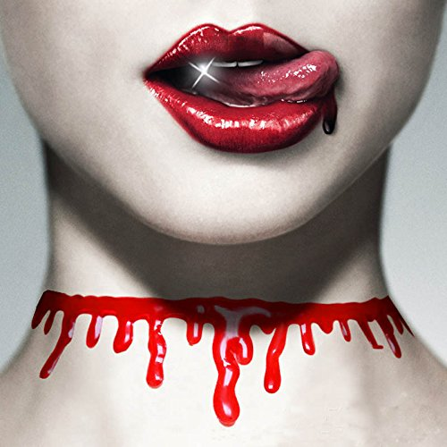Halloween Costumes Halloween Necklace Vampire Blood Choker Necklace Scary Halloween Party Favors Decorations Gifts Pack of 2 -