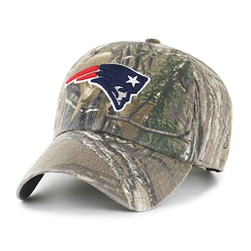 NFL New England Patriots Realtree OTS Challenger Adjustable Hat, Realtree Camo, One Size