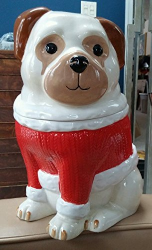 (Martha Stewart Collection Pups Plaids Pug Cookie Jar)