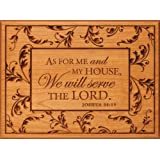 As For Me My House We Will Serve The Lord Cherry Engraved Wood Sign Plaque Gift
