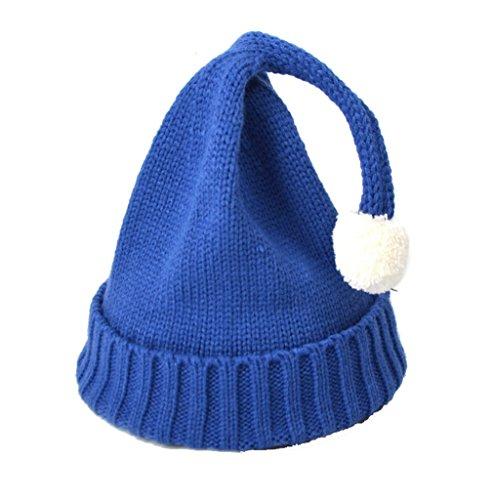 Adulte Fil Normale Elastique Bonnet Chapeau Bleu 6 Couleurs À Tricoter Taille Acvip Pompons adnfqzq