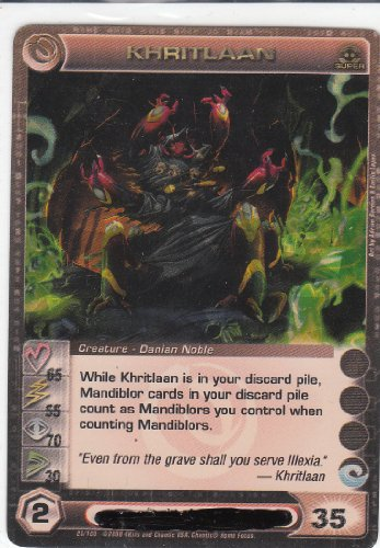 2009 Chaotic Limited Premium Edition Exclusive Gold Foil Cards Season 1- Zenith of the Hive Super Rare Khritlaan #26 - Exclusive Gold Foil Card