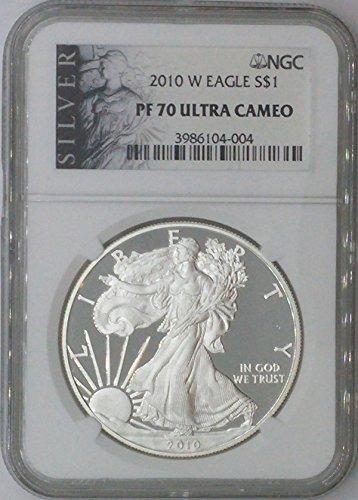 2010 W American Eagle $1 PF70 NGC PF