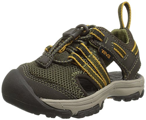 Teva Boys' T Manatee Sport Sandal, Dark Olive, 4 M US Toddler