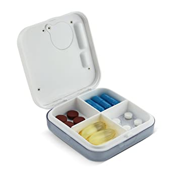 Buy Anself Dust-proof Separated Pill Organizer Pill Box Case Electronic  Timer Alarm Clock Reminder Medicine Storage Dispenser Online at Low Prices  in India - Amazon.in