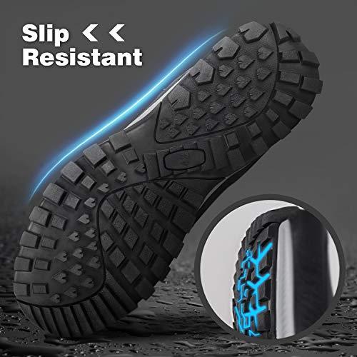 GRITION Chaussures de Randonnée Homme imperméables Chaussures de Trail,Bottes de Marche Moto Homme d'hiver de randonnée… 5