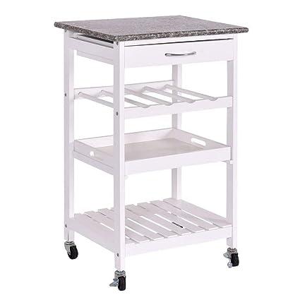 f8ddf1b41200 Amazon.com - Kitchen Island Granite Utility Portable Cart Furniture ...