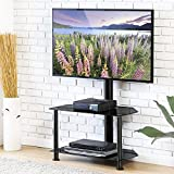 FITUEYES Floor TV Stand with Swivel Mount and Height Adjustable Flat Curved Screen TV for 32 50 55 inch Vizio/Sumsung/Sony Tvs Max VESA 400×400 TW207502MB Review