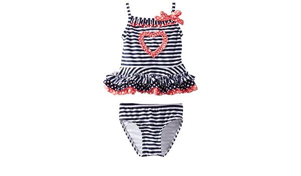 /& Red Swim Set Sizes 2T /& 3T White Toddler Girls Flapdoodles $32 2pc Navy