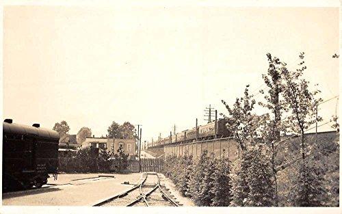 Real Photo Railroad Train (Railroad Train Scene Real Photo Antique Postcard K60581)
