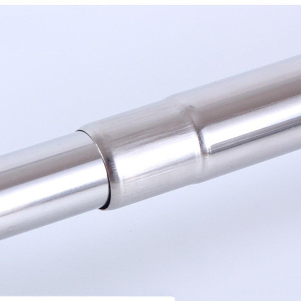 Sharplace argento in acciaio INOX regolabile allungabile vestiti bastoni da tenda per tende doccia armadio organizzatori Silver 55-90cm