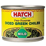 chili canned - Hatch Fire Roasted Mild Diced Green Chiles (Pack of 12)