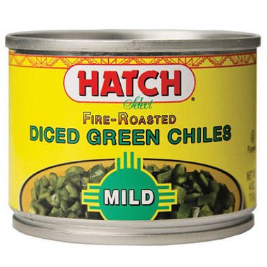 - Hatch Fire Roasted Mild Diced Green Chiles (Pack of 12)