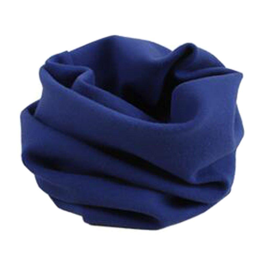 Kinder bequem Loop-Schal-Ansatz-Wärmer-Kreis Schals Einfarbig Blau Blancho Bedding