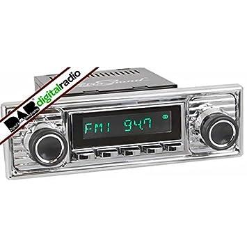 Santa Barbara Classic Dab Car Radio Chrome Scalloped Amazon Co Uk
