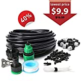 AGSIVO Home Garden Patio Misting Micro Flow Drip Irrigation Misting Cooling System Plastic Mist Nozzle Sprinkler Micro Blubber for Patio Garden Greenhouse Trampoline for waterpark (32.8ft A)