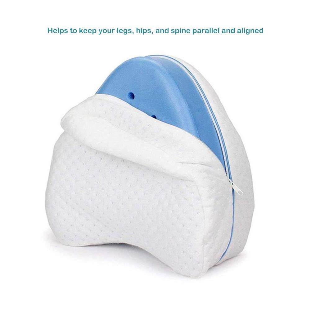 migliora Il Sonno in Memory Foam Cuscino per Ginocchia a Forma di Cuore la circolazione e la Corretta Postura Pywee sfoderabile e Lavabile
