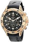 Nautica Men's N18523G NST Black/Rose Gold-Tone Stainless Steel Dress Watch, Black