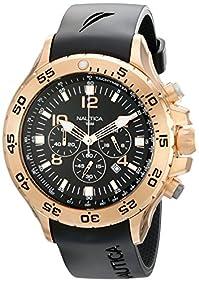 Nautica Men's N18523G NST Gold-Tone Stainless Steel Dress Watch